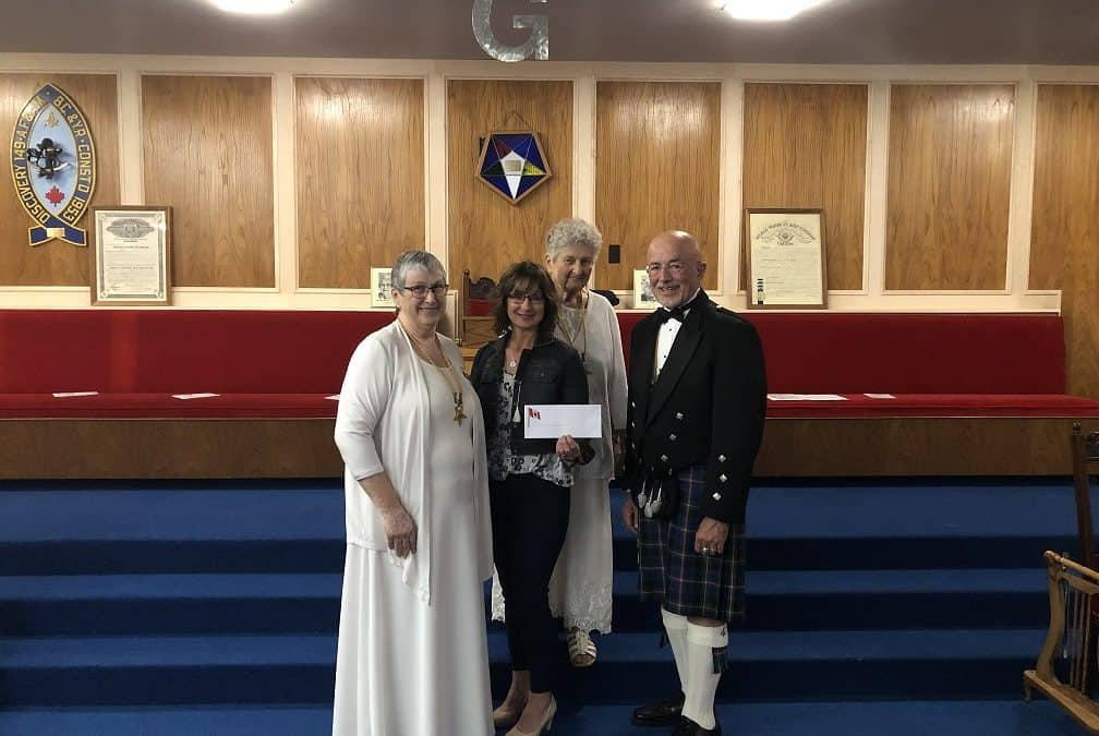 The Chas Maria Chapter Donates $1700 to Cancer Care