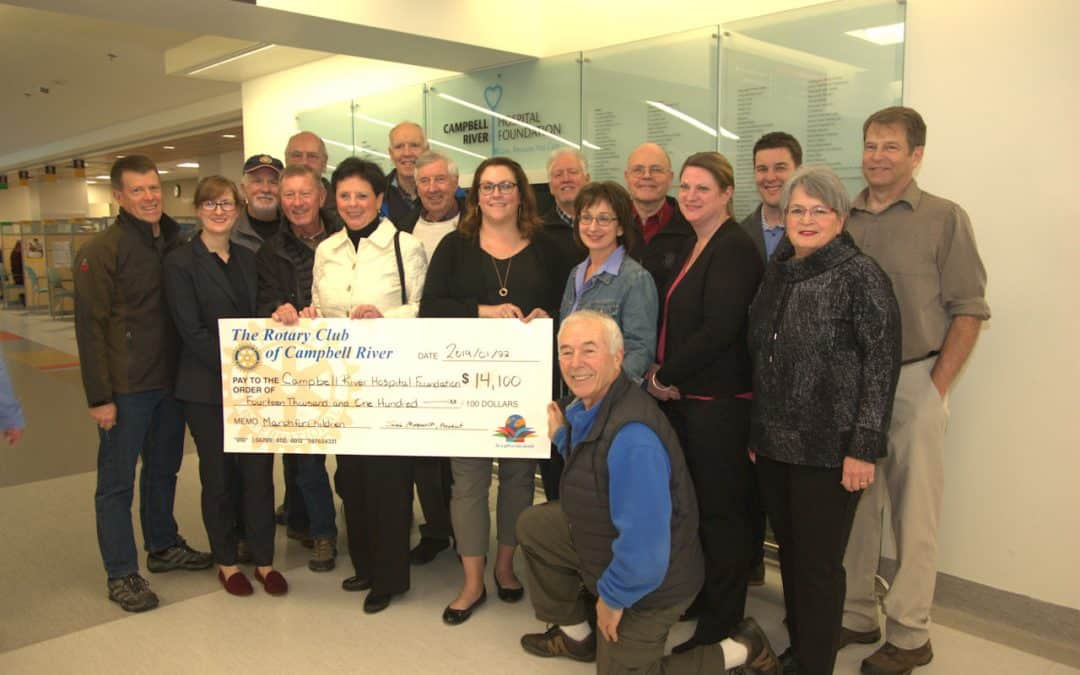 Campbell River Rotary Clubs donate to help our smallest patients